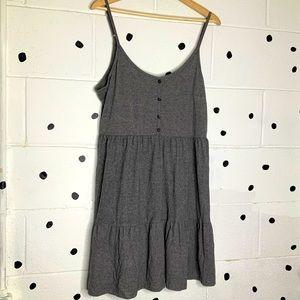 EUC Wild Fable Grey Tiered Sleeveless Dress Sz XL